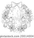 花环 天使 矢量图 20014004