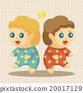 星星 雙胞胎中的一人 插圖 20017129