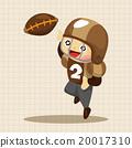 football, vector, touchdown 20017310