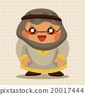 阿拉伯 插图 男性 20017444