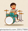 鼓 敲打 音樂家 20017886
