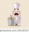 벡터, 요리사, 직업 20018507