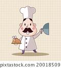 大厨 主厨 矢量 20018509