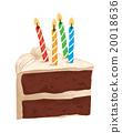 蛋糕 巧克力蛋糕 蠟燭 20018636