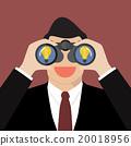 Man use binoculars looking for business idea 20018956
