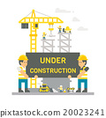 Flat design construction site sign 20023241