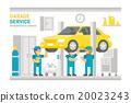 Flat design garage service infographic 20023243