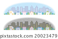 Townscape Daytime Night Illustration 20023479