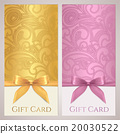 Gift card, discount card. Gold Bow 20030522