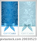 Gift card, discount card. Blue Bow 20030523