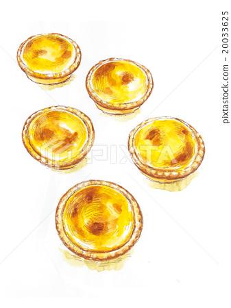 Cheese tart illustration 20033625