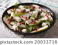 salad with pears, pomegranates, feta and arugula 20033716