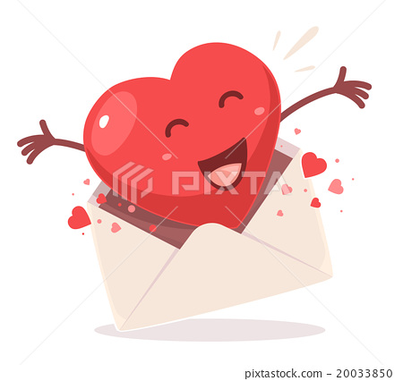 Vector illustration of red heart  20033850