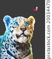 Low poly portrait of a leopard. Vector eps 10 20034470