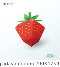3d strawberry 20034759