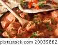 Indian food chicken tikka masala macro on a plate 20035662