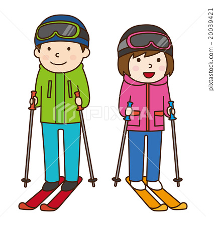Stock Illustration: skiing, winter sport, winter sports