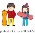 滑雪板 冬季運動 男人 20039422