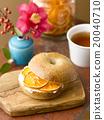 三明治 百吉餅 橘子 20040710