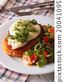 Chicken Parmigiana and fresh vegetable salad 20041095