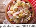 potato salad with radish close-up in a bowl 20041586