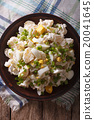 Potato salad with chives and egg close-up 20041645