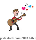 People man guitar love song 20043463