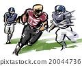 美式足球 運動 橄欖球 20044736