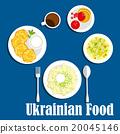 ukrainian, vector, cuisine 20045146