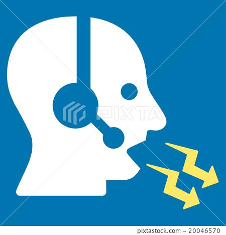 Operator Shout Flat Icon - Stock Illustration [20046570] - PIXTA