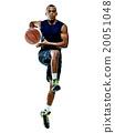 basketball player  man Isolated  20051048