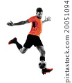 Soccer player Man Isolated silhouette 20051094