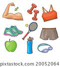 fitness, vector, set 20052064