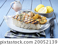 Barbecue Swordfish Steake on Plate 20052139