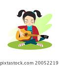 Girl plays guitar 20052219