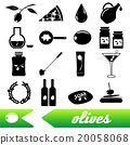 olives and product theme black simple icons set 20058068