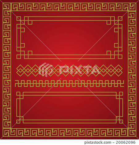 chinese new year border vector elements