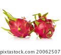 Dragon Fruit isolated against white background. 20062507
