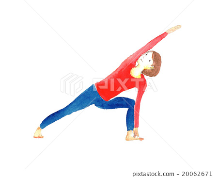 Illustration Pose to stretch out the yoga body 20062671