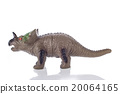 triceratops toy isolated on white 20064165