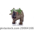 triceratops toy isolated on white 20064166