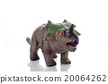 triceratops toy isolated on white 20064262
