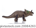 triceratops toy isolated on white 20064263