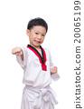 Asian taekwondo boy isolated on white background 20065199