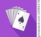 Ace Card Flat Design on Background 20066378