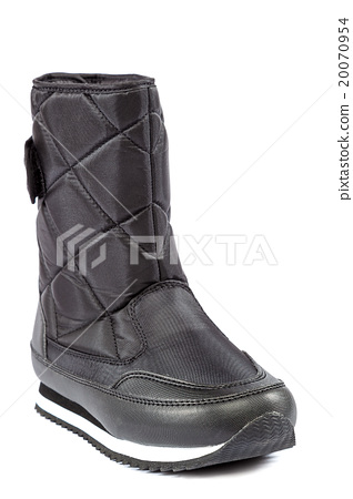 Black boots, isolated on white background. 20070954