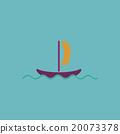 yachts flat icon 20073378