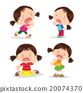 Cute girl crying cartoon 20074370