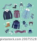 Set of Warm Winter Clothes Design 20075528