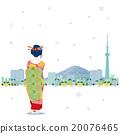 벡터, 겨울, 눈 20076465